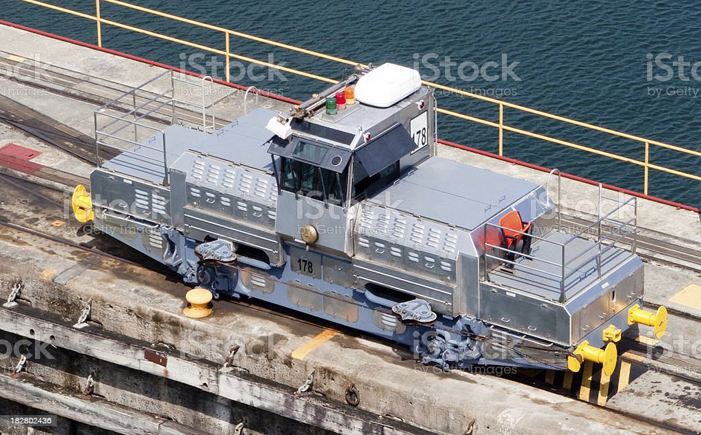 Train in the panama canal royalty-free stock photo