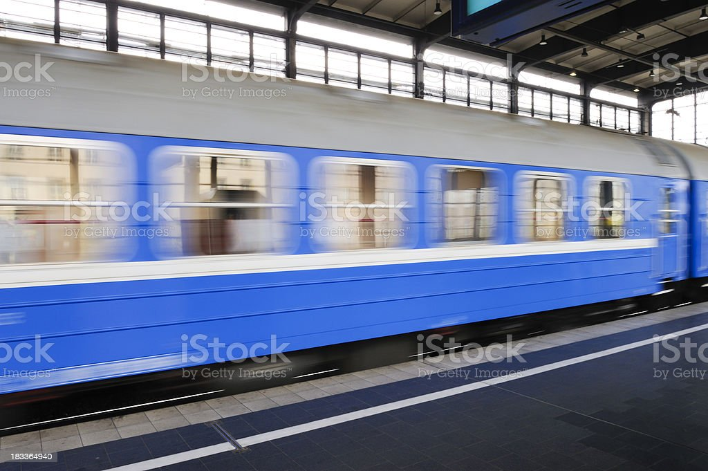 Train leaving the station royalty-free stock photo