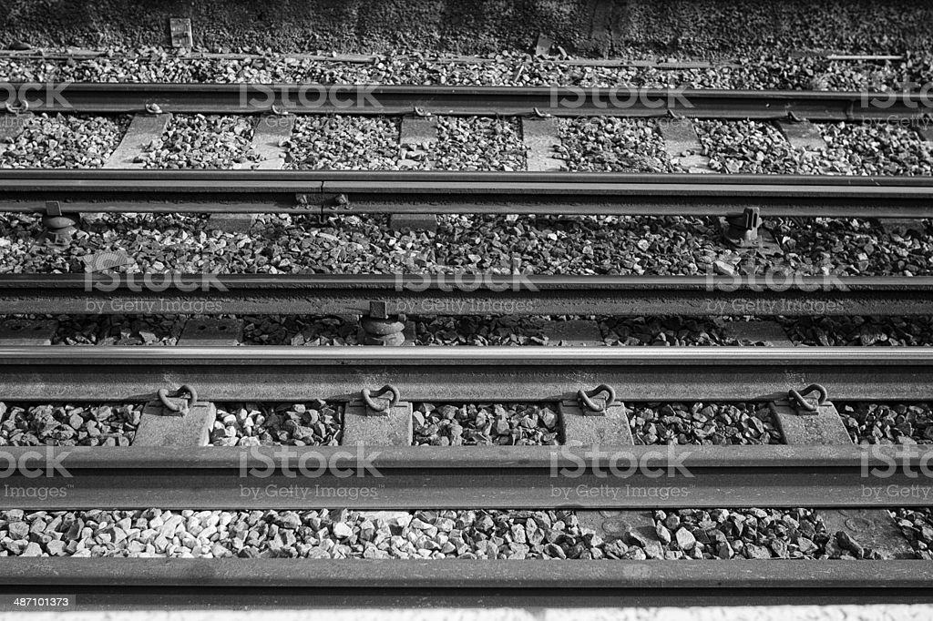 Train line tracks stock photo