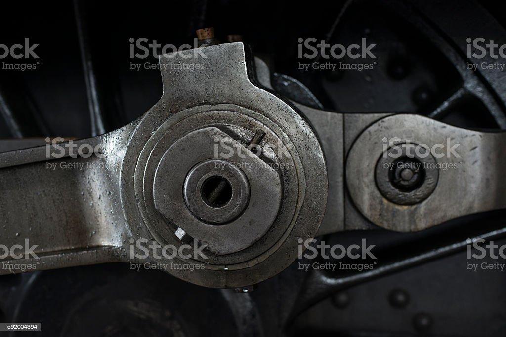 Train linkage stock photo