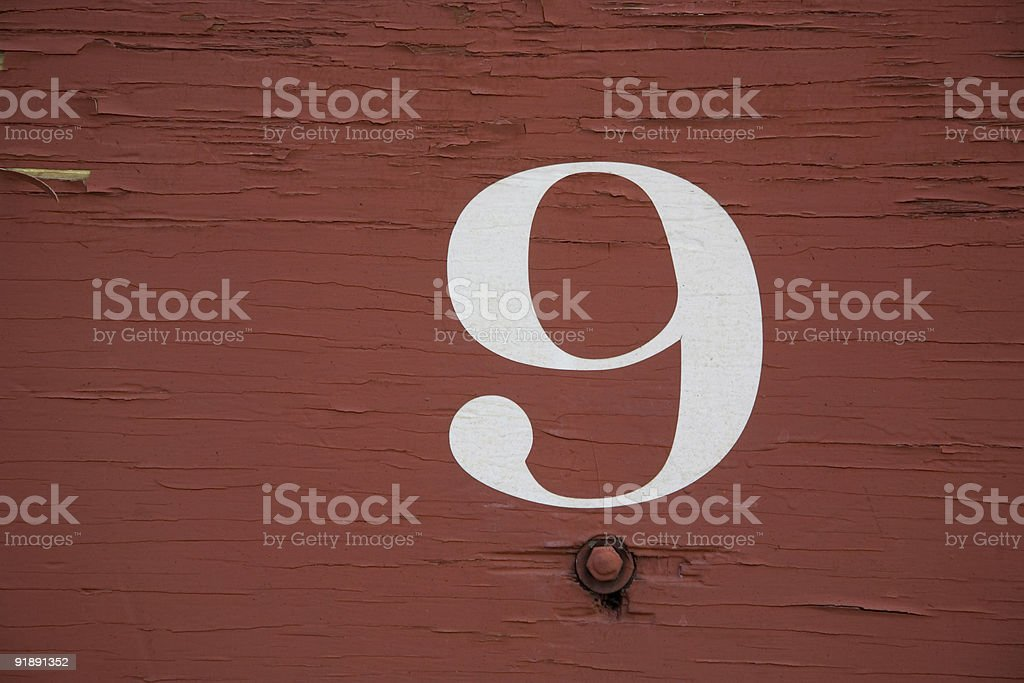 Train Numbers royalty-free stock photo