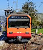 Train of the Uetliberg railway line in Zurich, Switzerland