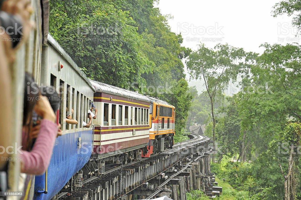 Train on death railway stock photo