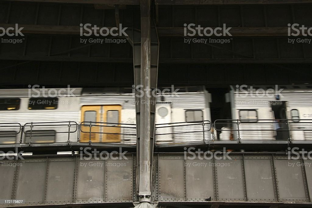 Train on the Moving royalty-free stock photo
