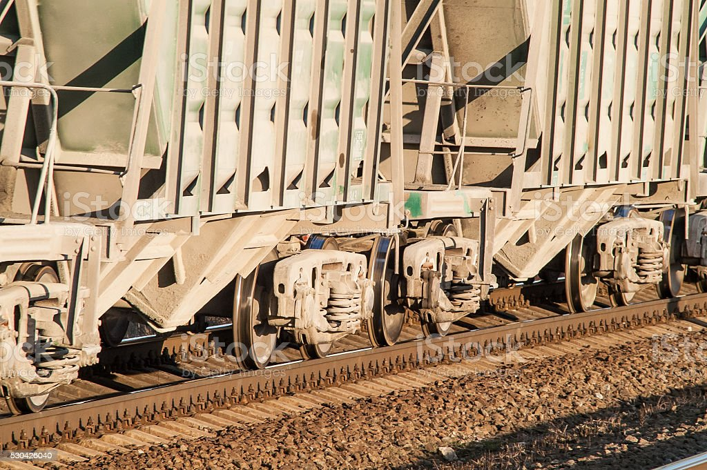 train on the railroad stock photo