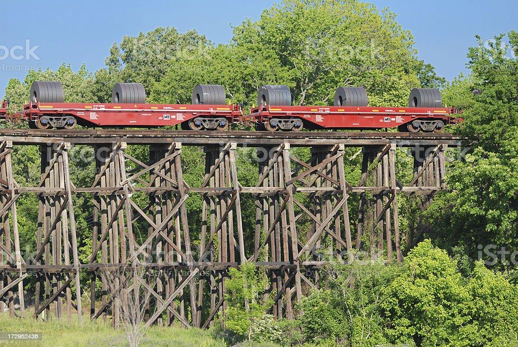 Train on Trestle Series stock photo