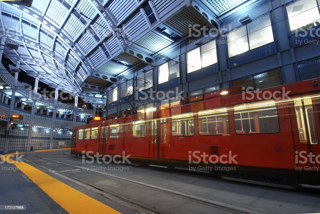 Train Pass Stop royalty-free stock photo