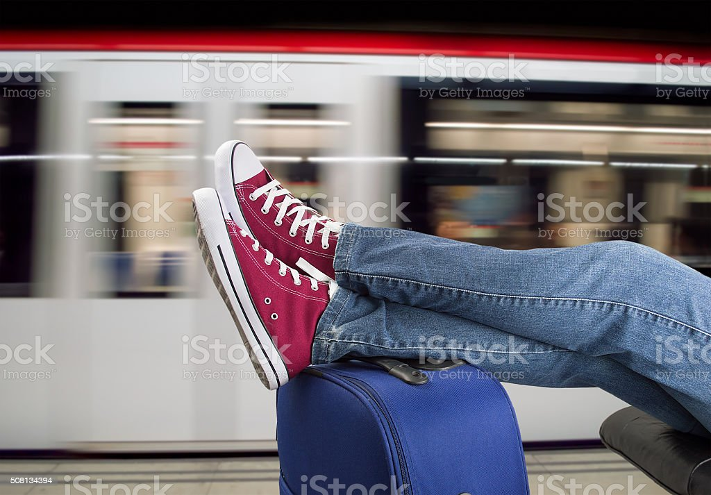 train passenger stock photo