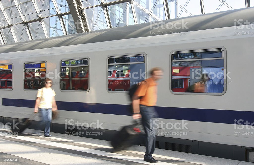 Train Passengers stock photo