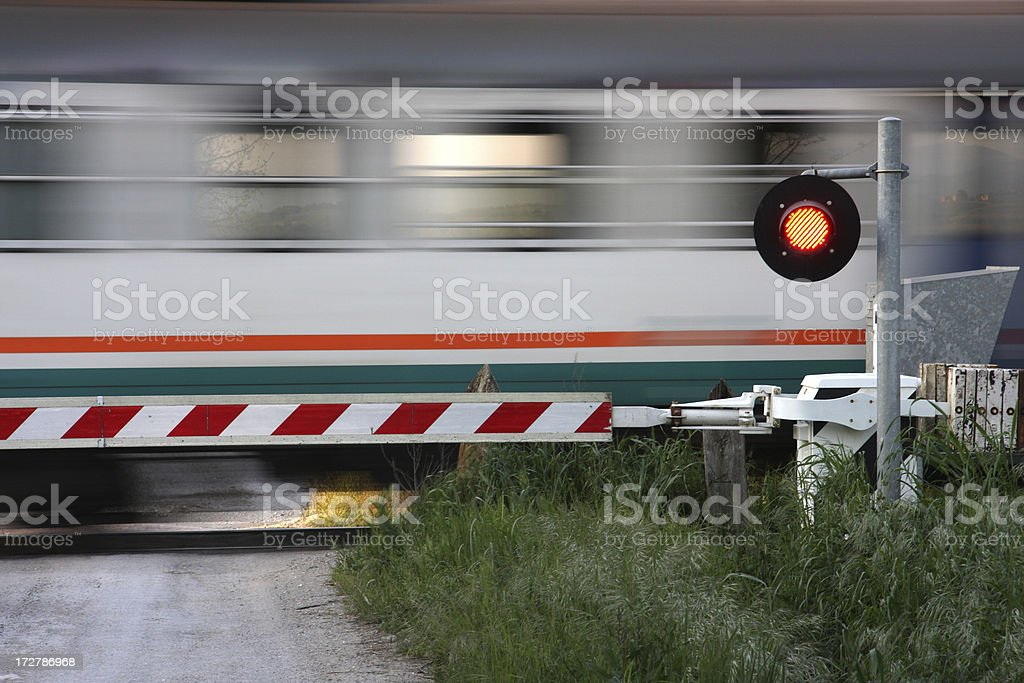 Train passing by royalty-free stock photo