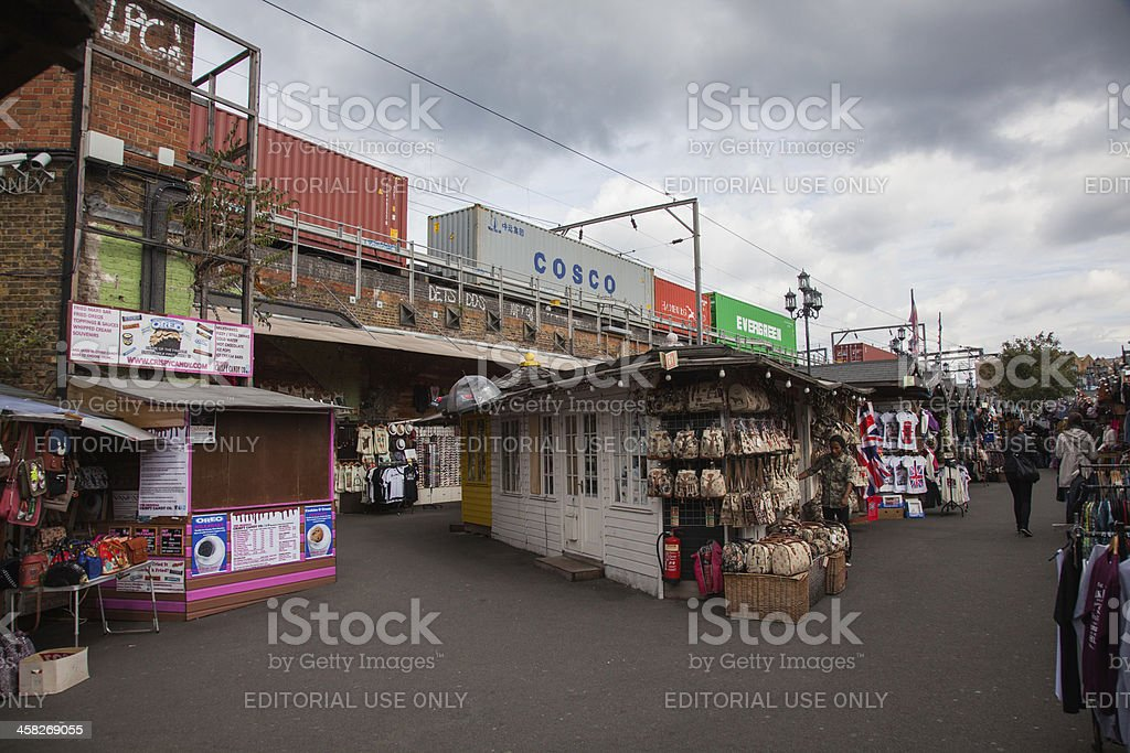 Train passing Camden Market, royalty-free stock photo