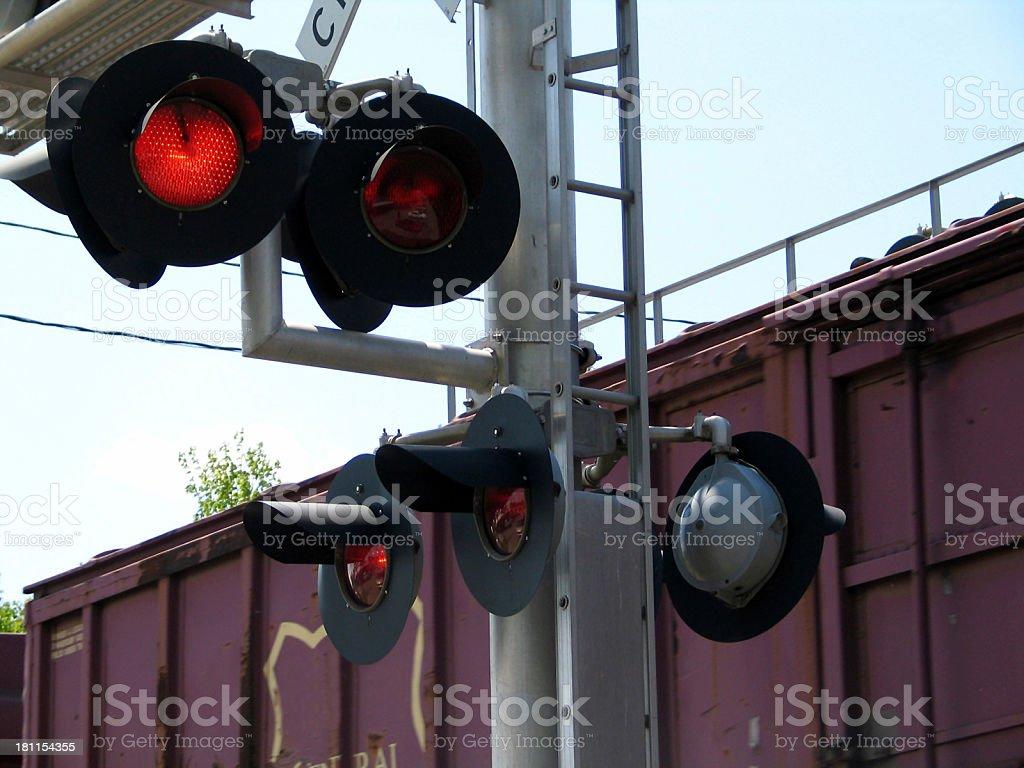 Train Passing royalty-free stock photo