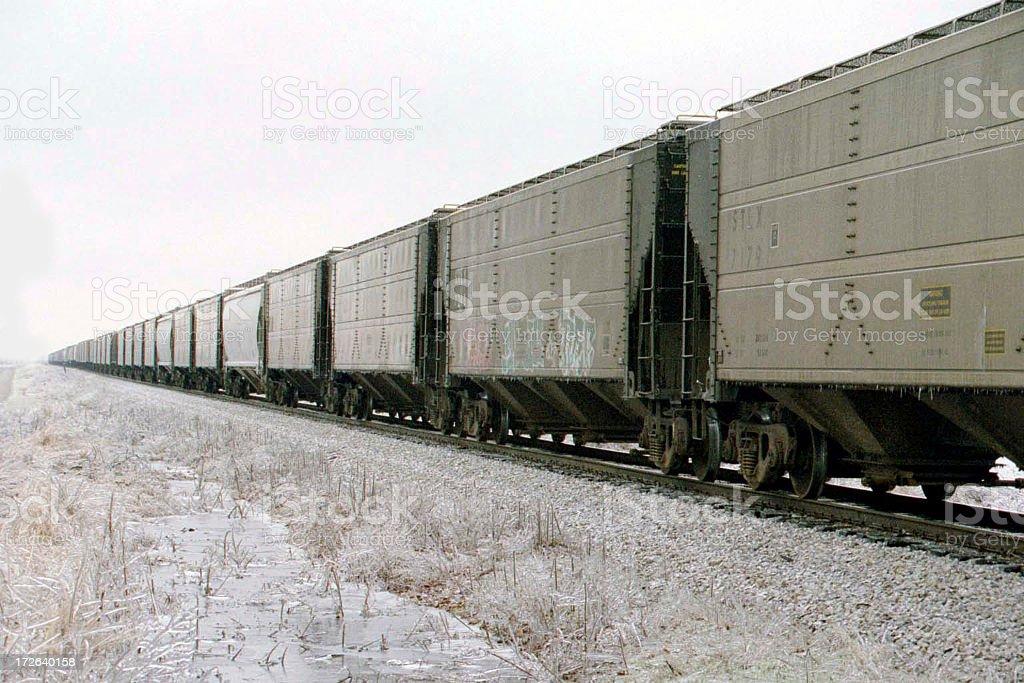 Train perspective left stock photo