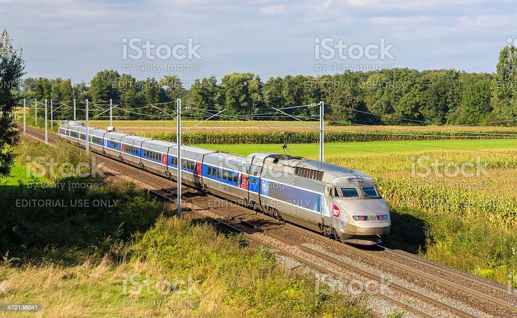 SNCF TGV train stock photo