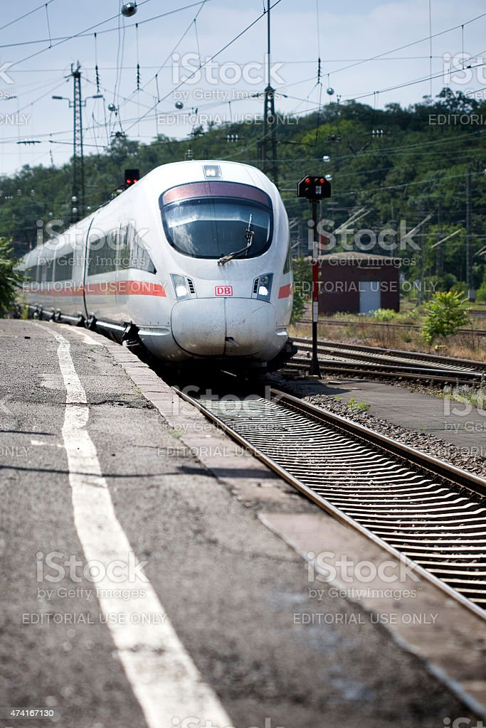 ICE train stock photo