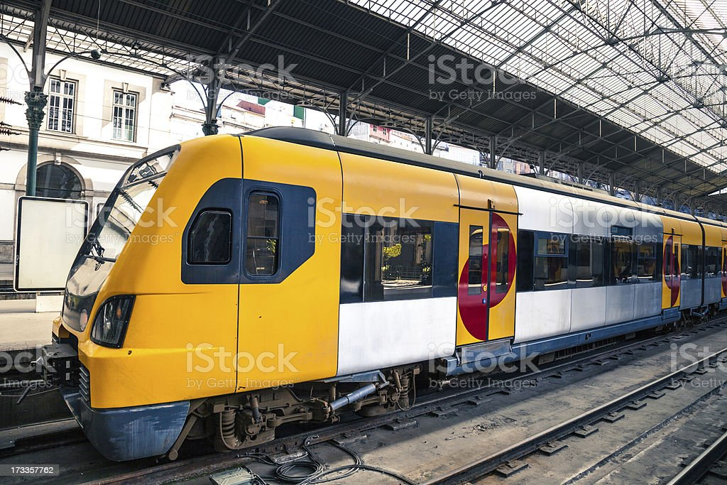 Train ready to leave the station royalty-free stock photo