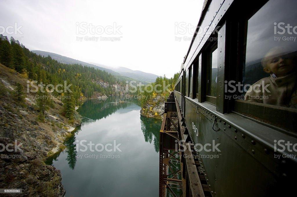 Train ride stock photo