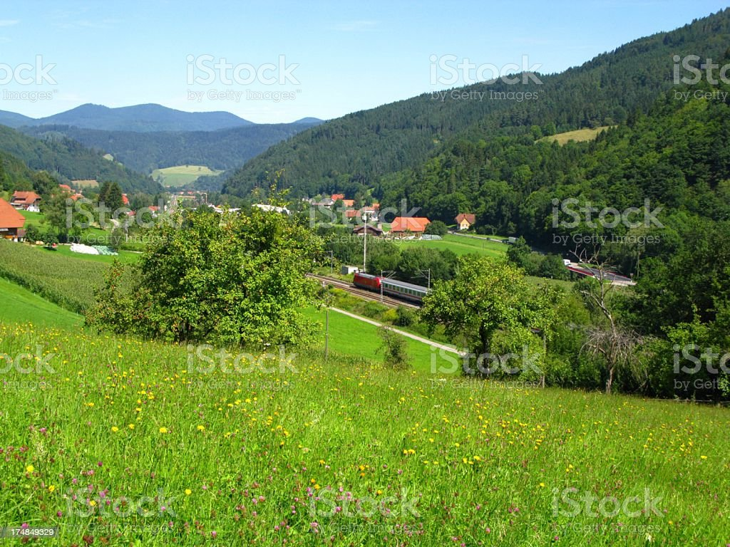 Train ride through the Black Forest royalty-free stock photo