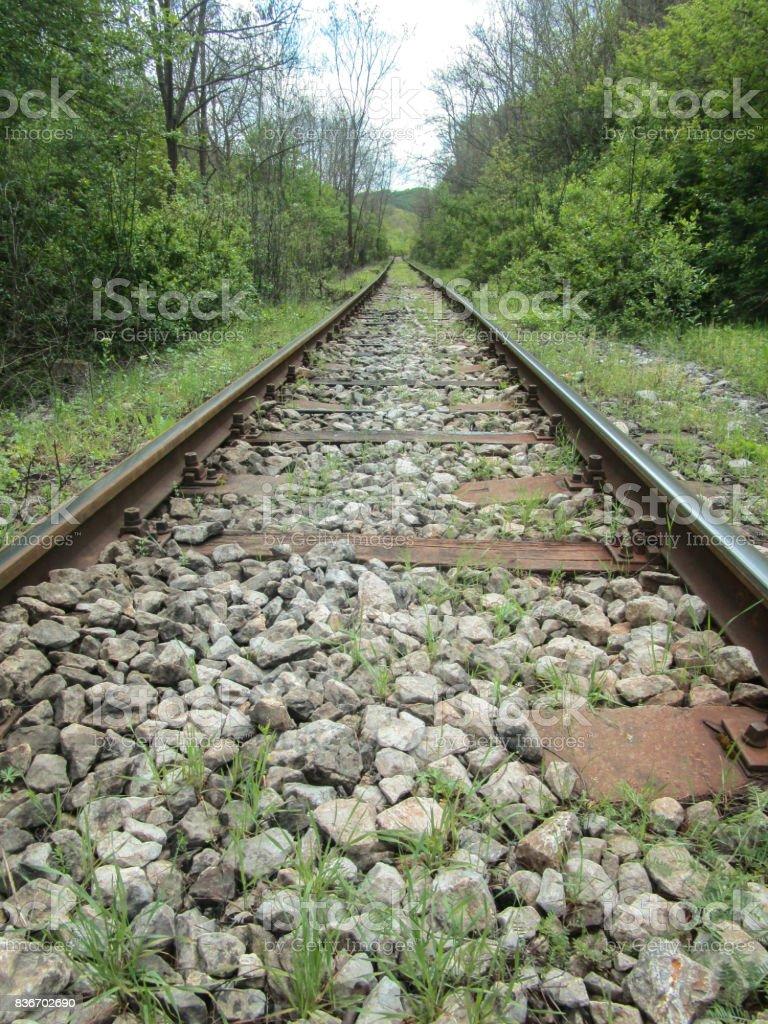 Train route stock photo