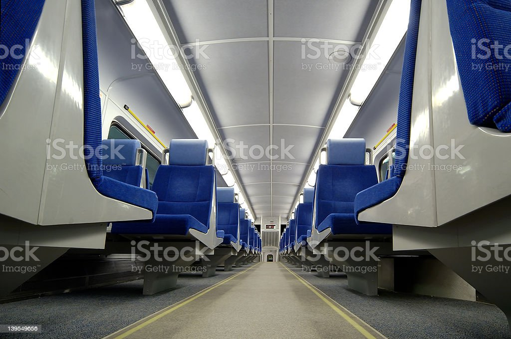 Train Seats royalty-free stock photo