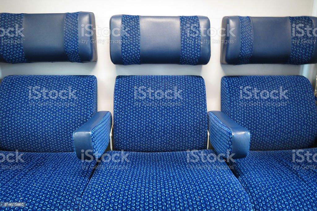 Train seats stock photo