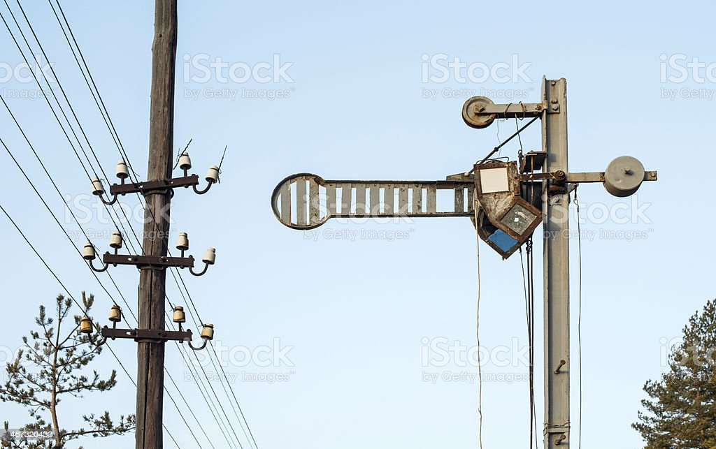 Train Semaphore royalty-free stock photo