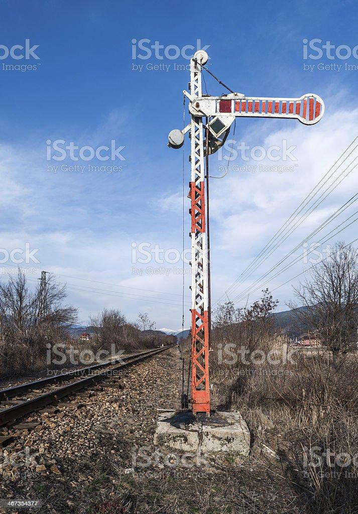 Train Semaphore royalty-free stock photo