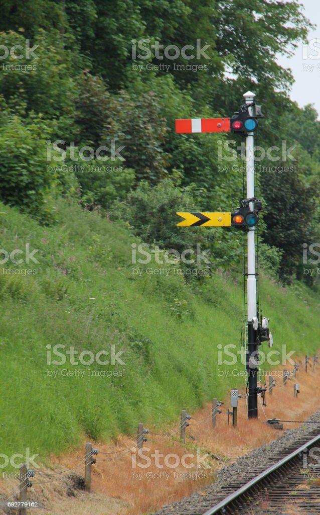 Train Signals. stock photo