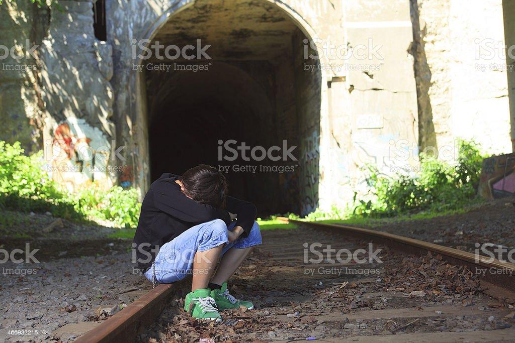 Train - Sit Depress royalty-free stock photo