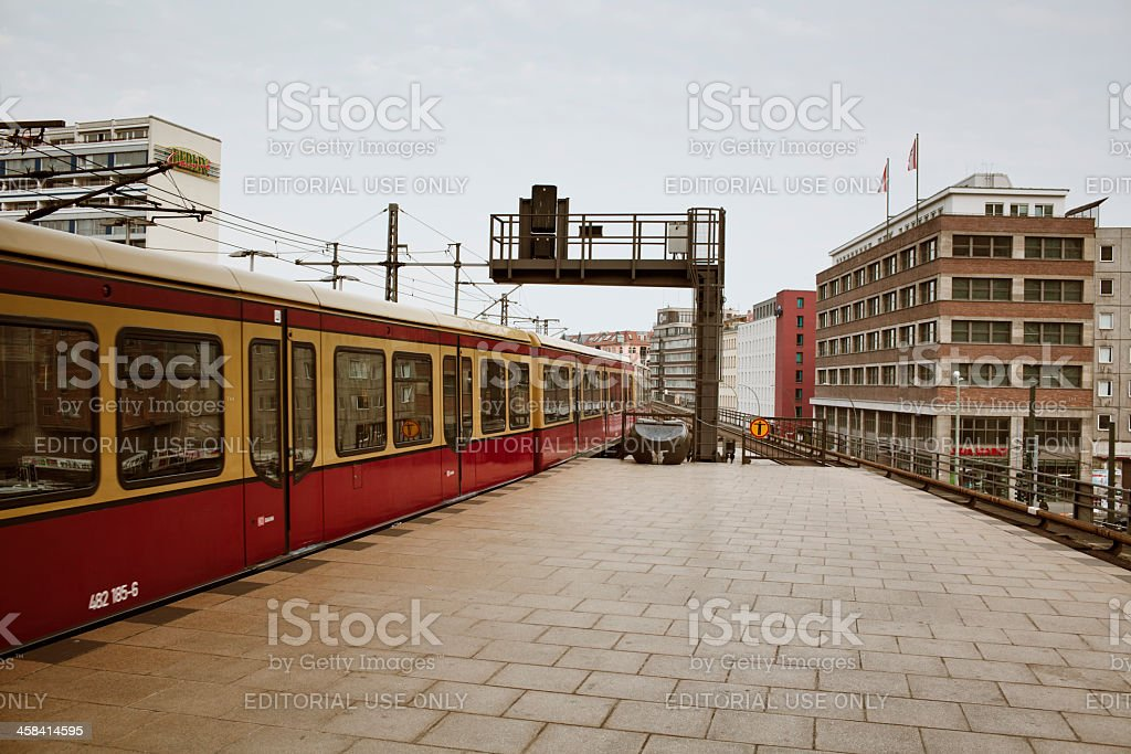 Train station at Alexanderplatz Berlin stock photo