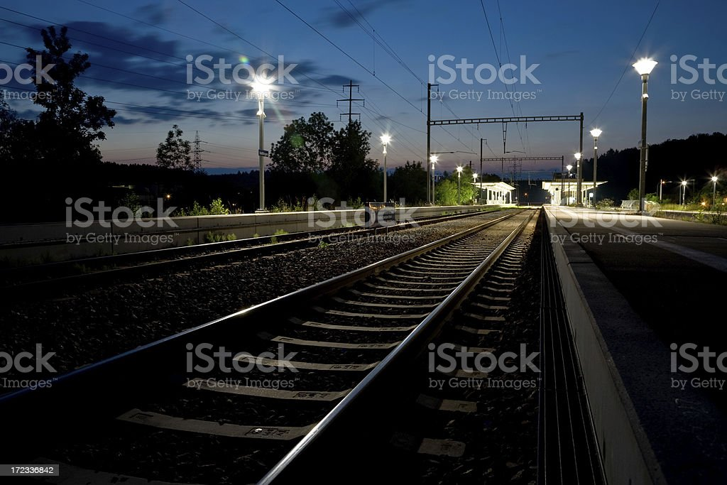 Train station at dusk royalty-free stock photo