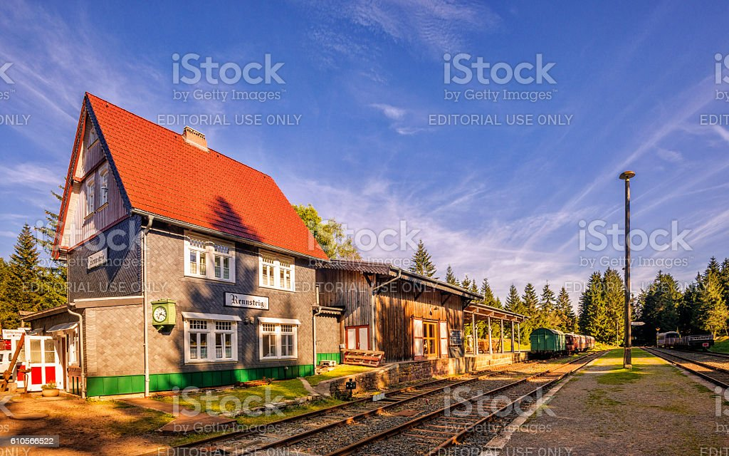 Train Station 'Bahnhof' Rennsteig stock photo