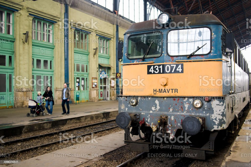 Train Station, Budapest, Hungary royalty-free stock photo