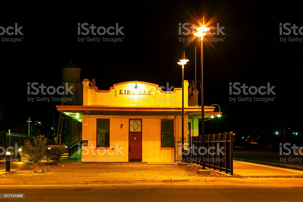 train Station by night stock photo