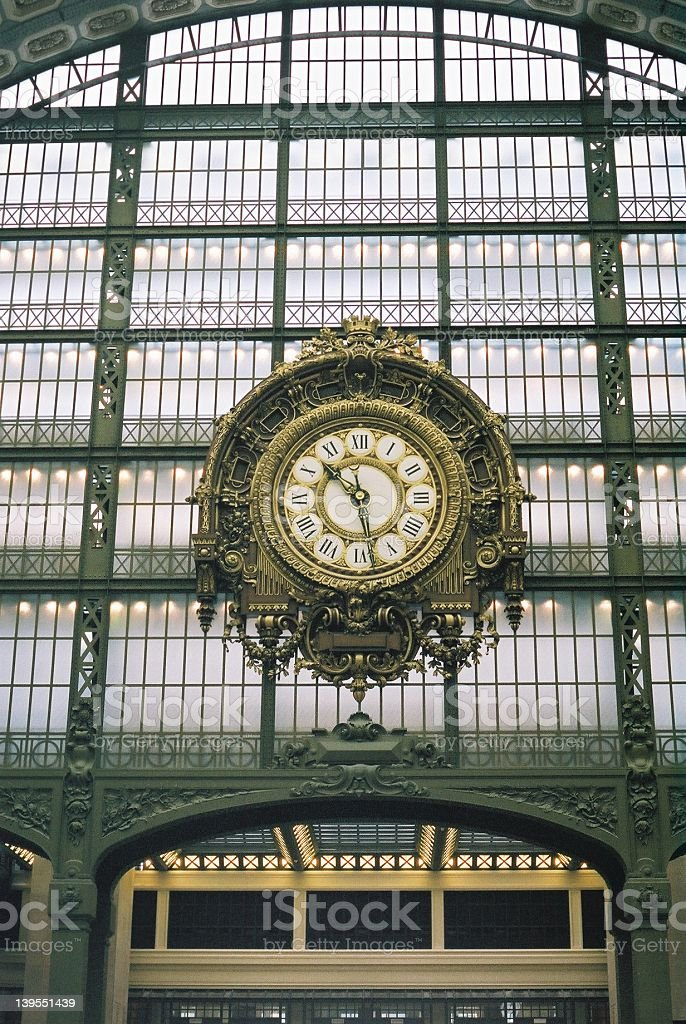 Train station clock royalty-free stock photo