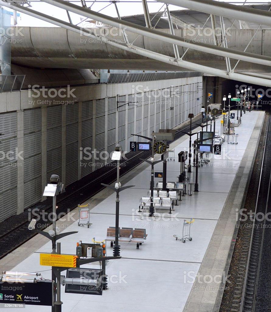 Train Station, France stock photo