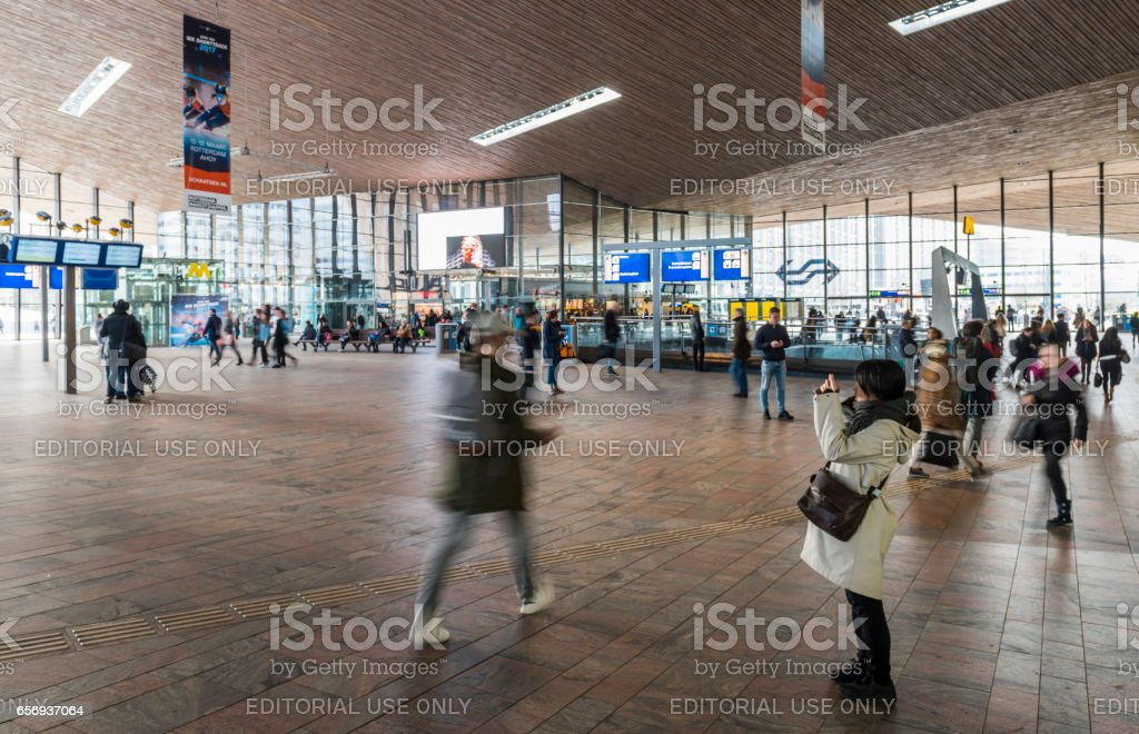 Train Station Hall Rotterdam stock photo