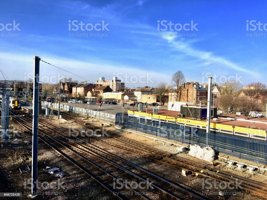 Train station in Bedford stock photo