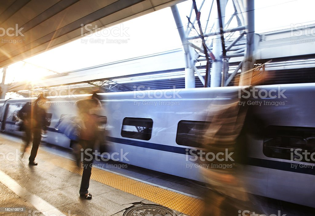 Train Station in Beijing stock photo
