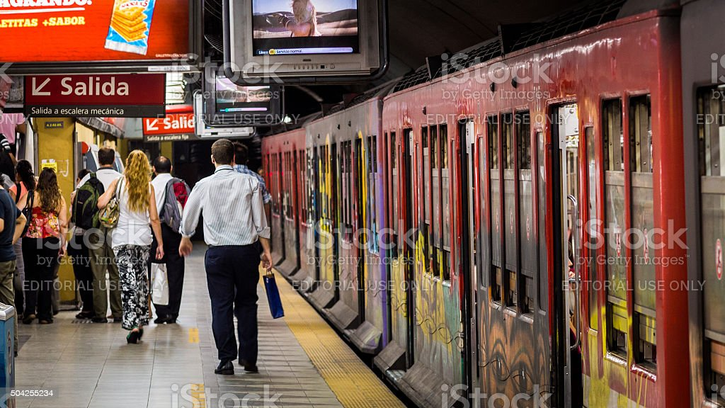 Train station in Buenos Aires, Argentina stock photo