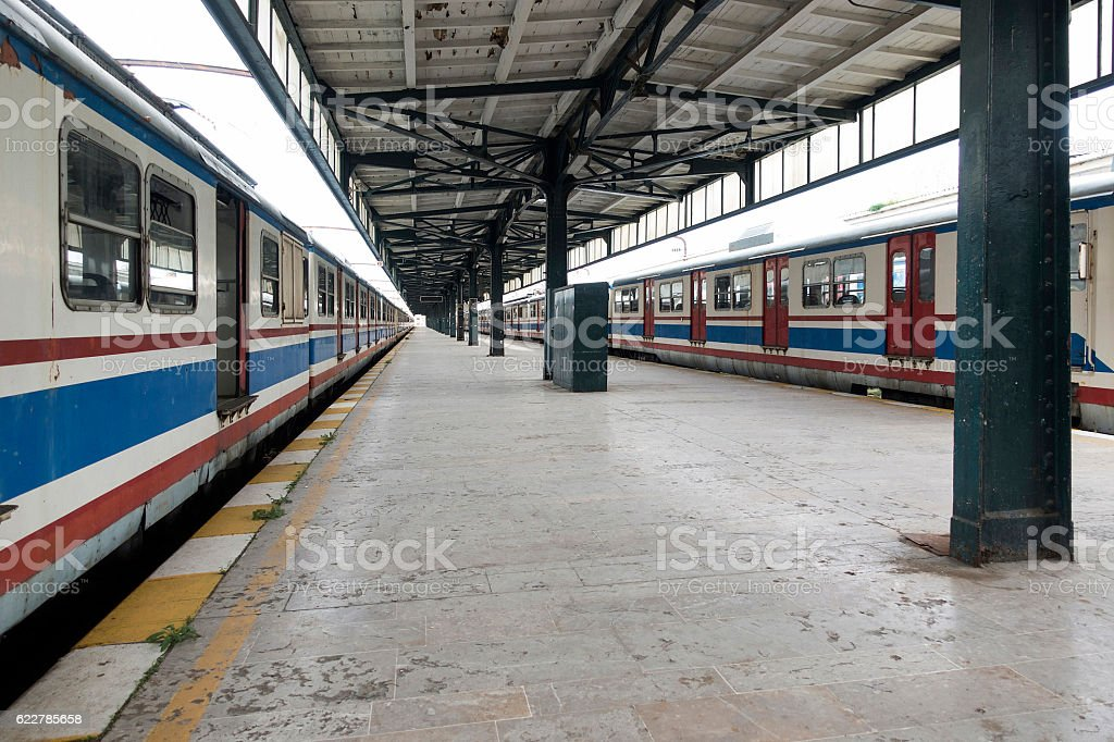 Train Station in Istanbul, Turkey stock photo
