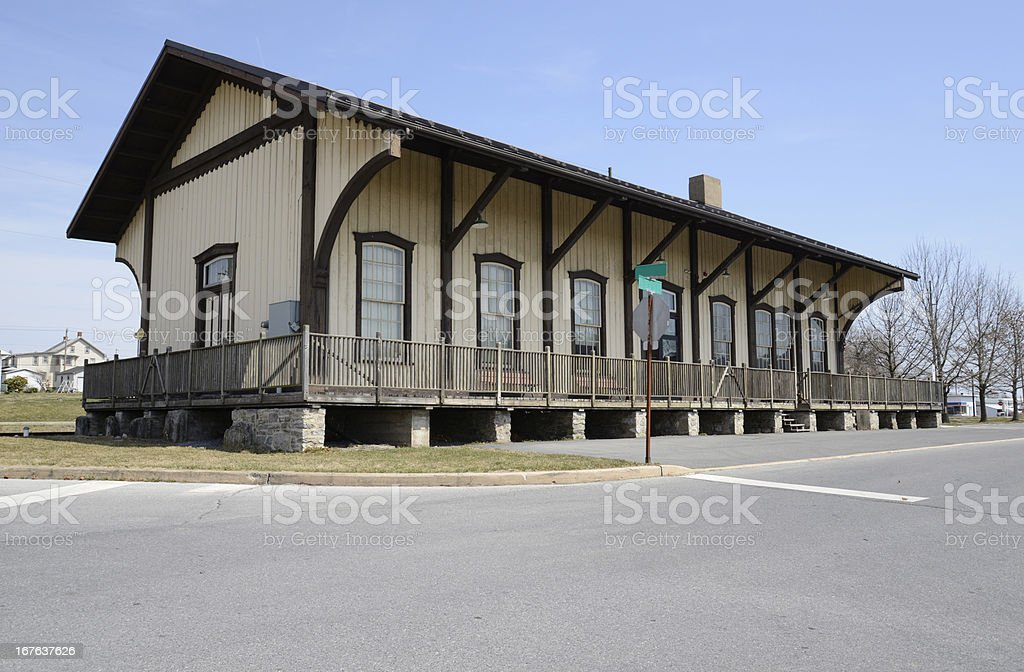 train station in Kutztown, Pennsylvania royalty-free stock photo