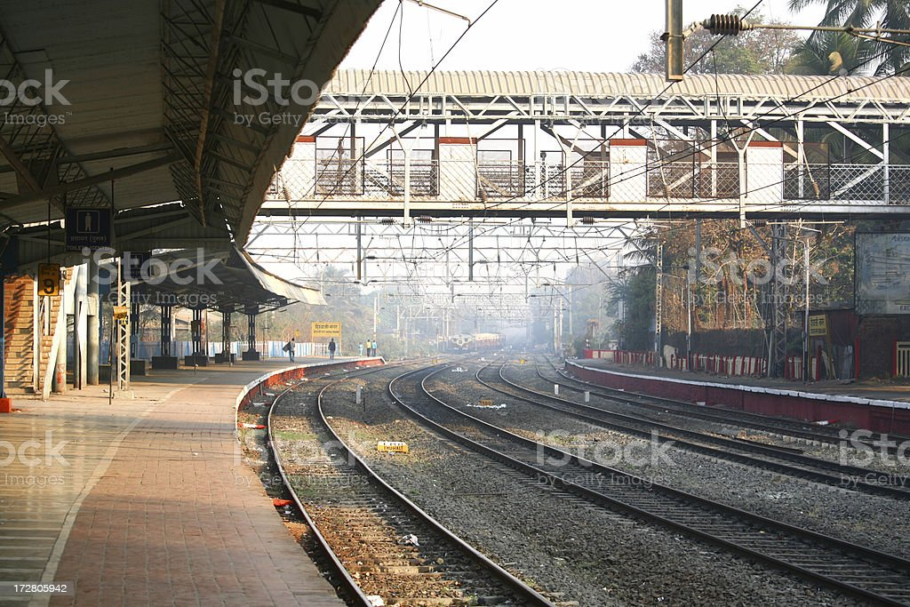 Train station in Pune India stock photo