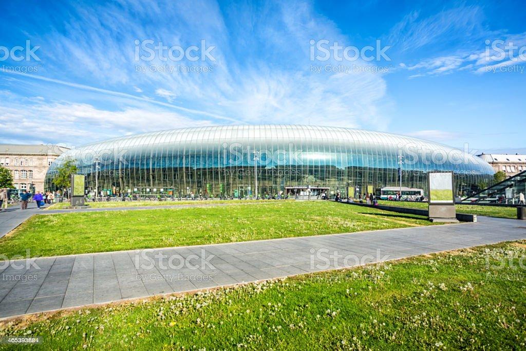 Train station in Strasbourg stock photo
