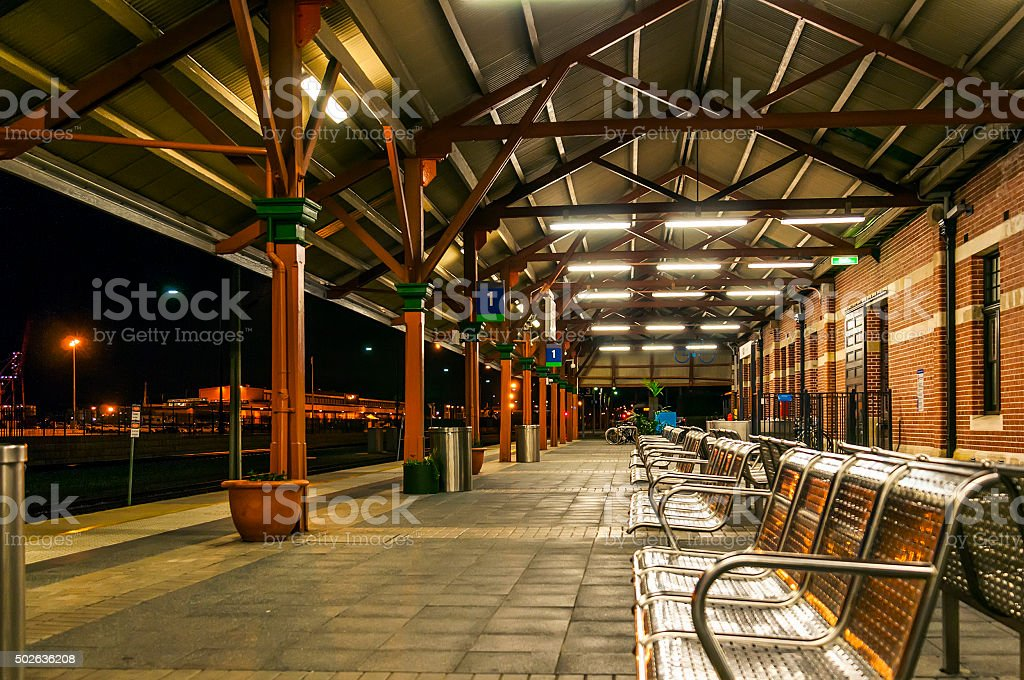 train station in west australia stock photo