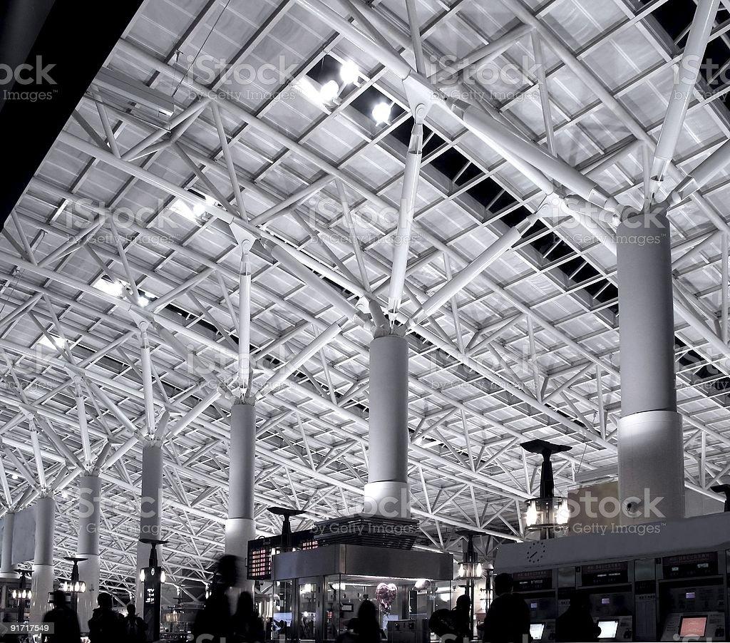 Train Station Interior royalty-free stock photo