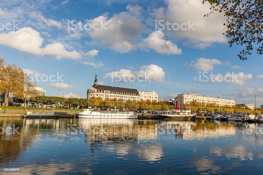 Train Station. Nantes. France. November 14th, 2014 stock photo