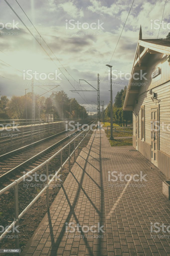 Train station of Latvia stock photo