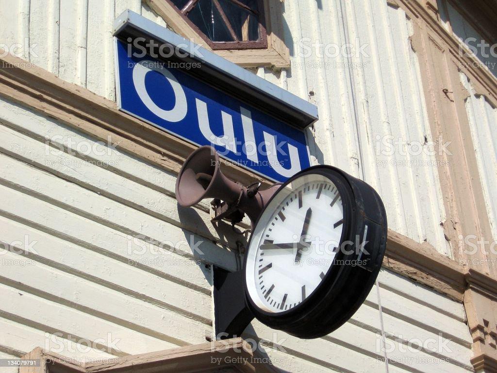 Train station of Oulu stock photo