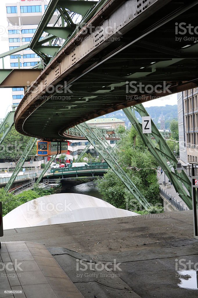 Train station of the Suspension Railways in Wuppertal, Germany stock photo